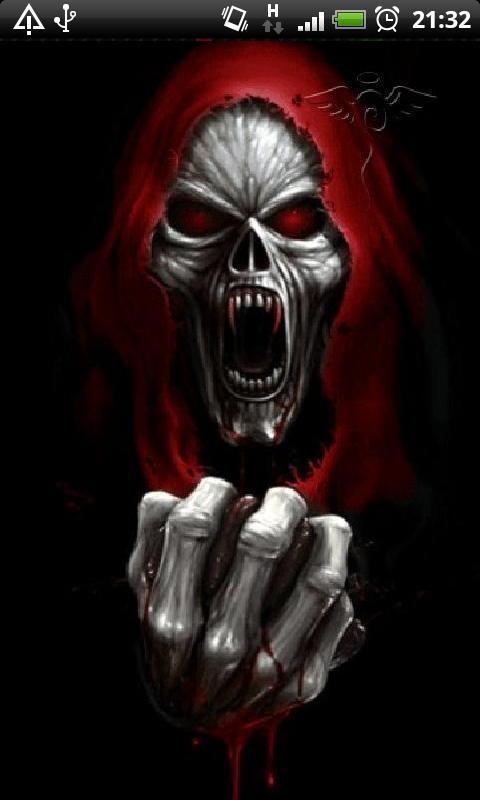 Evil Vampire Skull Live Wallpaper Theme Background For Android