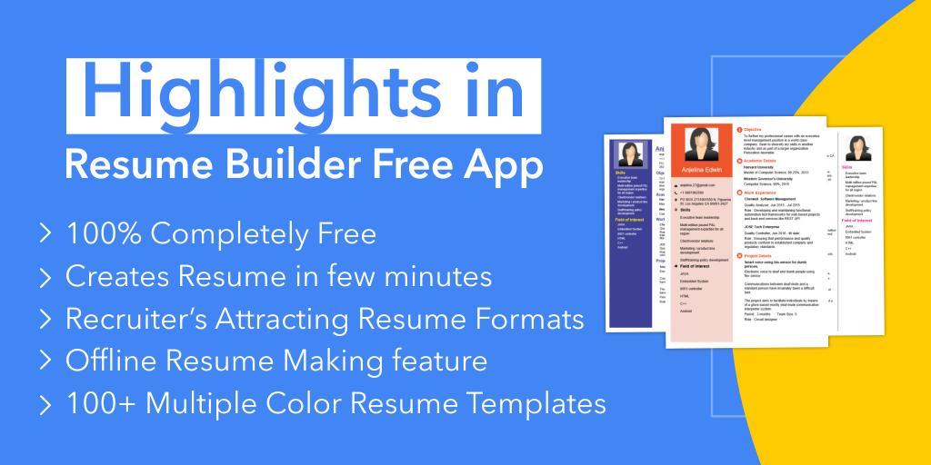 Resume Builder Free Cv Maker App Curriculum Vitae For Android