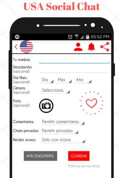 USA Social Chat - Meet and Chat with singles screenshot 1