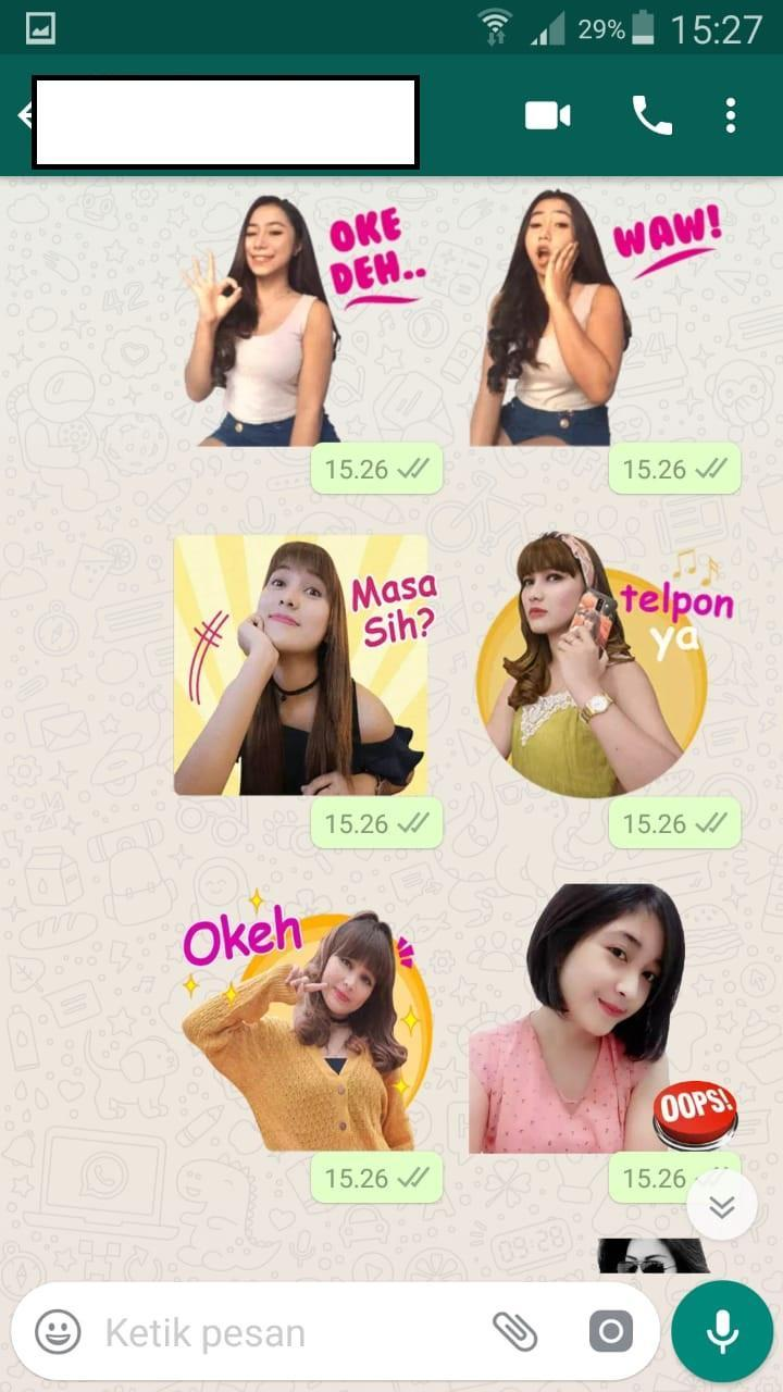WA Sticker Cewe Cantik Seksi Lucu WAStickerApps For Android
