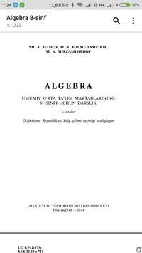 Algebra 8-sinf poster