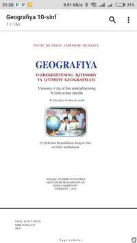 Geografiya 8-sinf poster