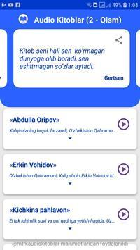 Audio Kitoblar (2 - Qism) screenshot 1
