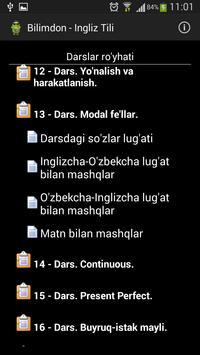 Bilimdon - Ingliz Tili screenshot 1