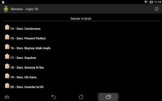 Bilimdon - Ingliz Tili screenshot 8