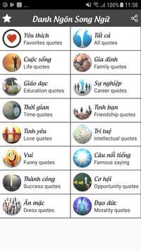 Danh Ngon Song Ngu - Danh Ngôn Song Ngữ screenshot 8