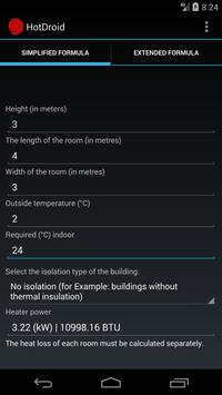 Electric heating calculator for Android - APK Download
