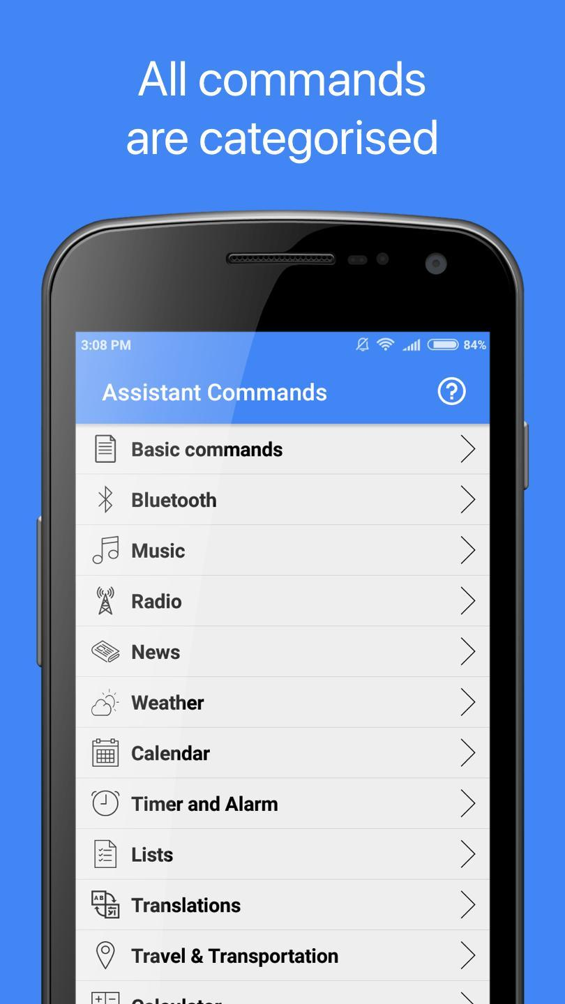 Commands for Google Assistant for Android - APK Download