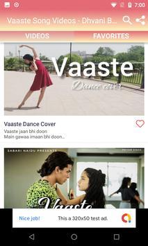Vaaste Song Videos - Dhvani Bhanushali Songs screenshot 2