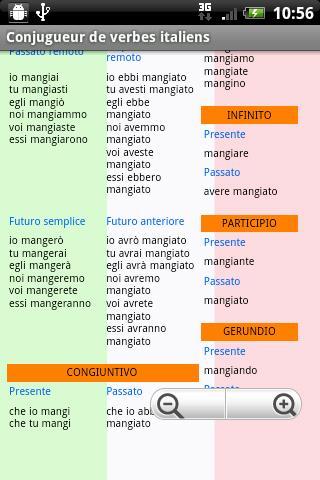 Conjugueur De Verbes Italiens Pour Android Telechargez L Apk