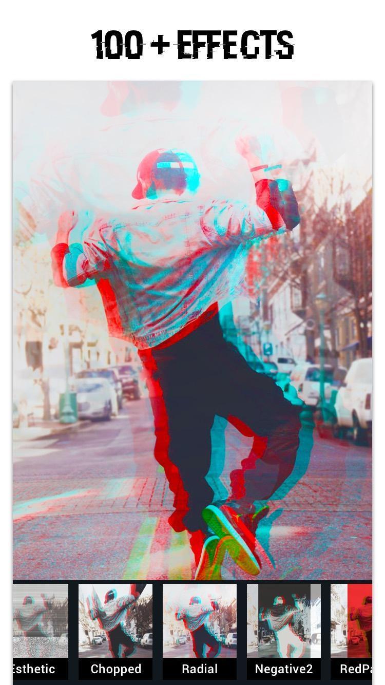 Glitch Photo Editor -VHS, glitch effect, vaporwave for