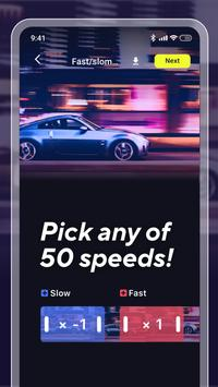 🐌 Slow Motion Camera.Fast Video Editor with Music screenshot 1
