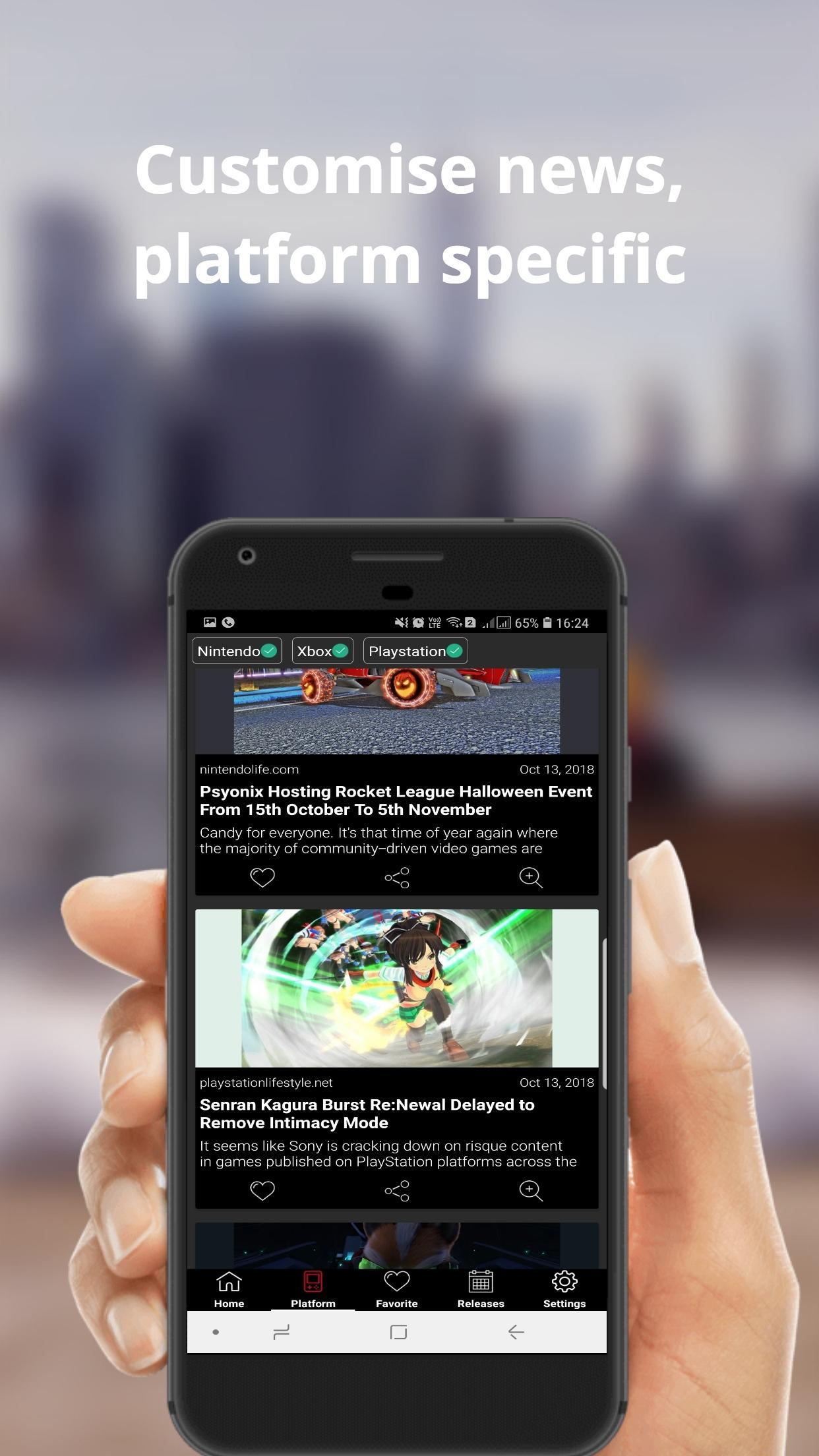 Gamify Gaming news & video game review & news app for