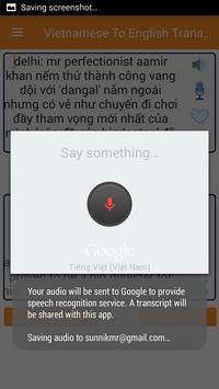 Vietnamese English Translator screenshot 2