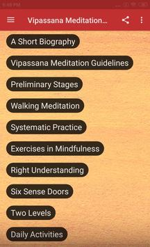 VIPASSANA MEDITATION COURSE screenshot 1