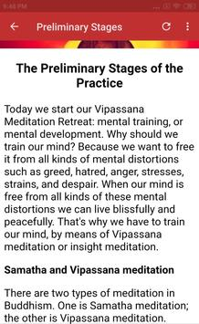 VIPASSANA MEDITATION COURSE screenshot 3