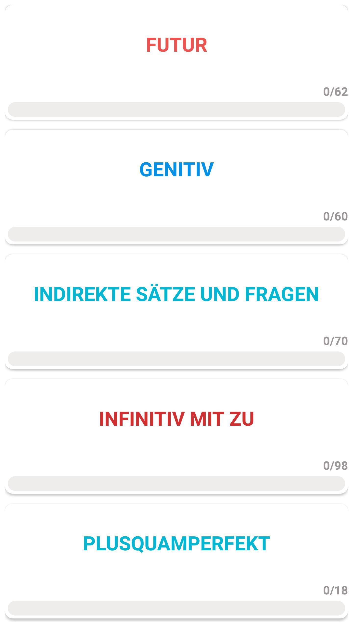 Test zur deutsch grammatik A1-A2-B1-B2-C1 for Android - APK