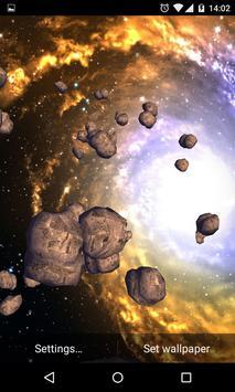 Asteroids 3D Live Wallpaper HD poster