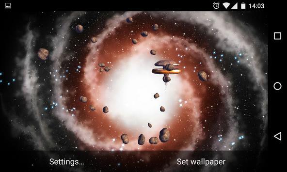 Asteroids 3D Live Wallpaper HD screenshot 9