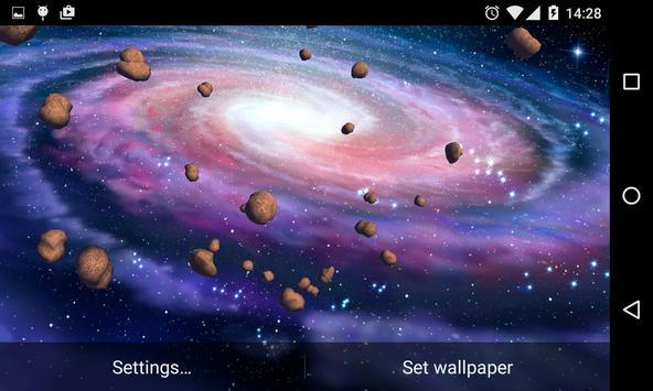 Asteroids 3D Live Wallpaper HD screenshot 11