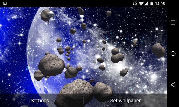 Asteroids 3D Live Wallpaper HD screenshot 12