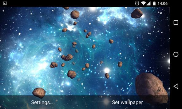 Asteroids 3D Live Wallpaper HD screenshot 18