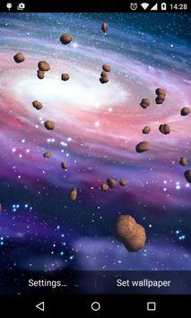 Asteroids 3D Live Wallpaper HD screenshot 4