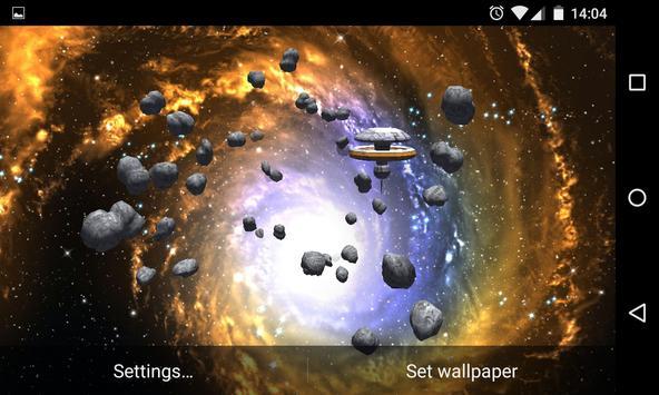 Asteroids 3D Live Wallpaper HD screenshot 8