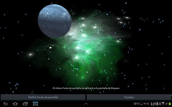 3D Galaxy Live Wallpaper screenshot 14