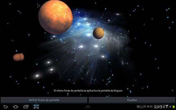 3D Galaxy Live Wallpaper screenshot 12