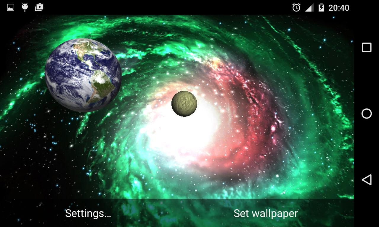 3D Galaxy Live Wallpaper for Android APK Download