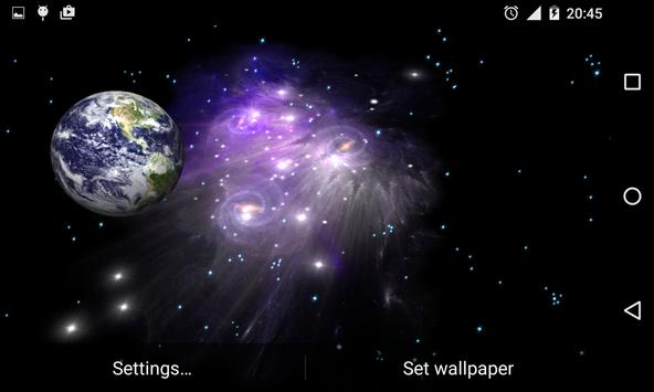 3D Galaxy Live Wallpaper screenshot 7