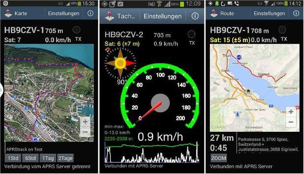 Yukom Android APRS screenshot 1