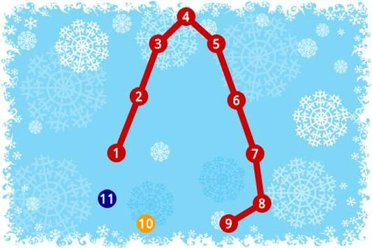 Kids Connect the Dots Xmas poster