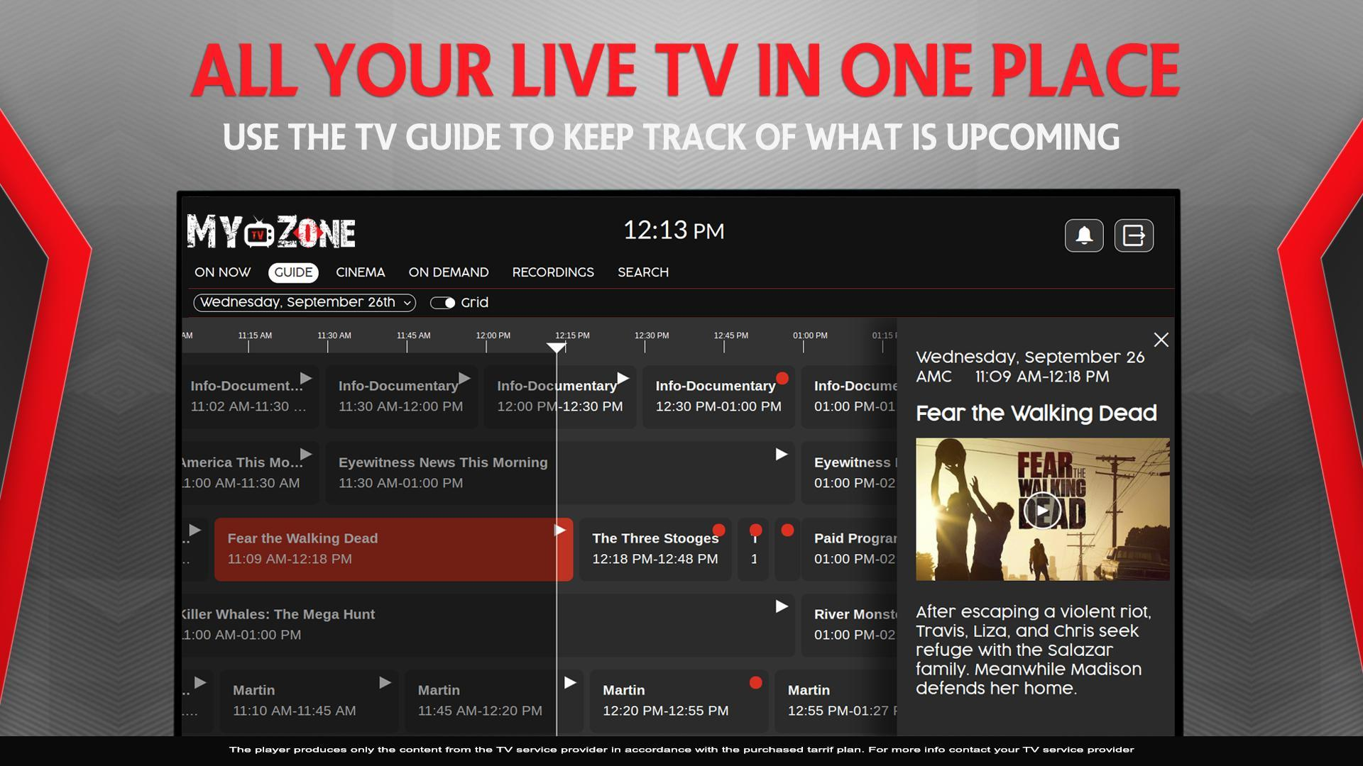 MyTV Zone for Android - APK Download