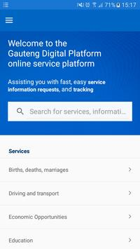 Gauteng Digital Platform poster