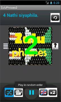 Zulu Phrases 2 language tutor poster