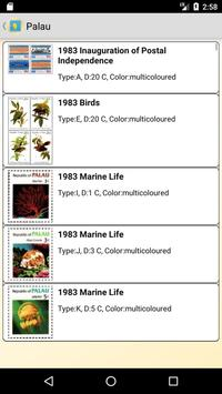 Postage Stamps of Palau screenshot 1