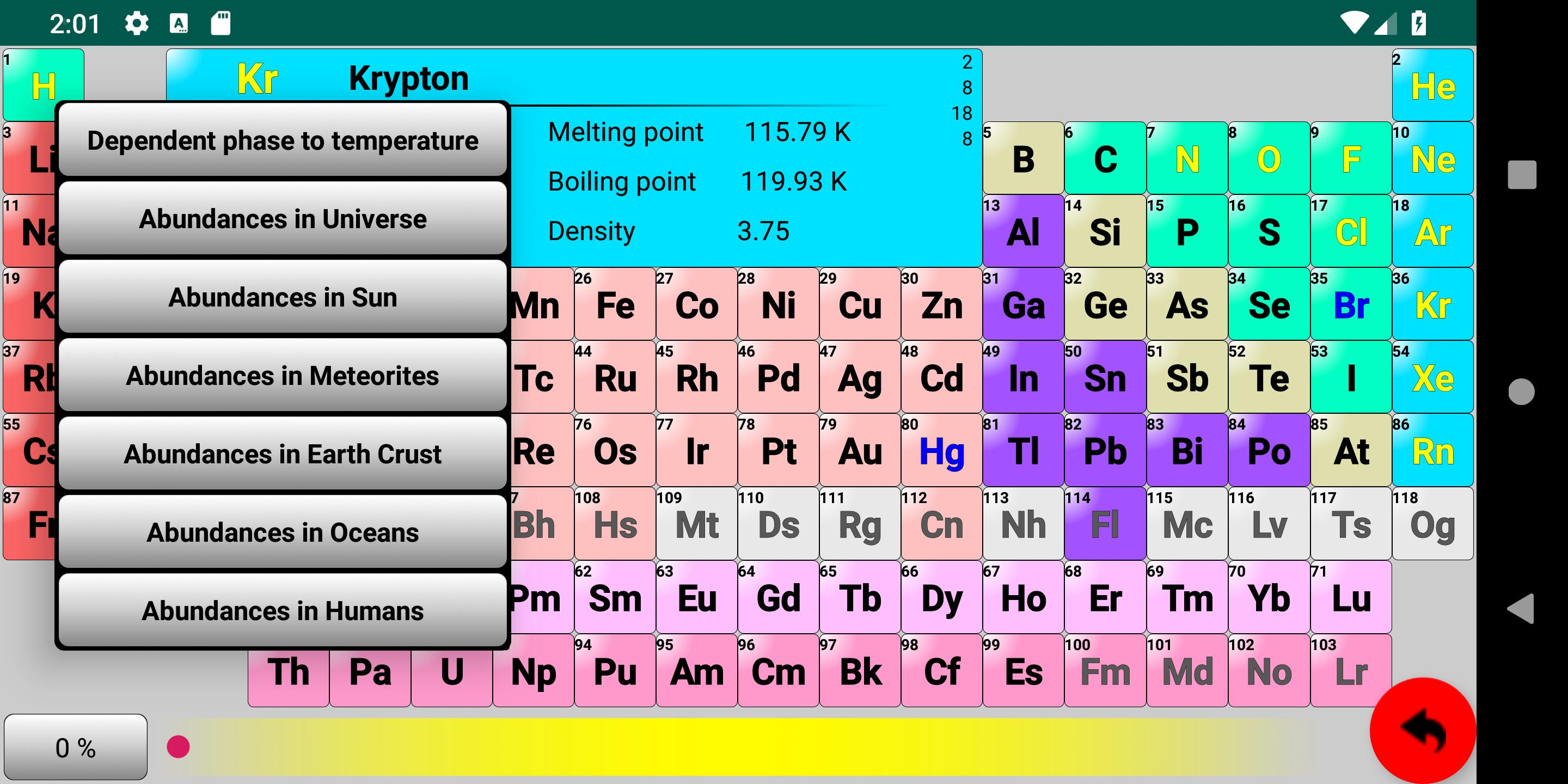 Periodic Table Elements Isotopes Compounds 3d For Android