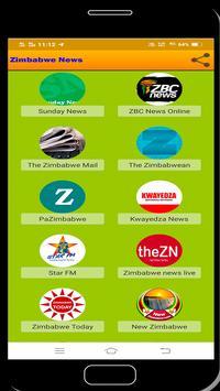 Zimbabwe News syot layar 1