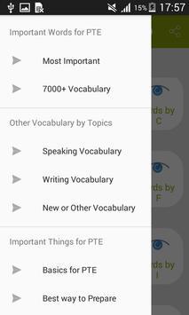 Vocabulary for PTE screenshot 1